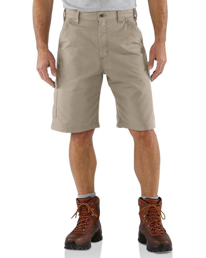 Carhartt Men's Canvas Carpenter Work Shorts, Tan, hi-res