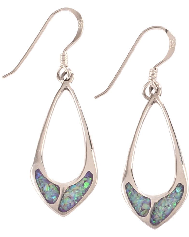 Silver Legends Women's Sterling Silver & Opal Dangle Earrings, Lavender, hi-res