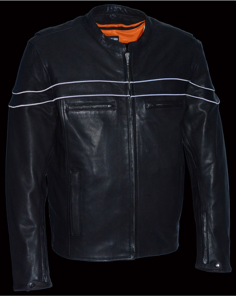 Milwaukee Leather Men's Lightweight Sporty Scooter Crossover Jacket - 3X, Black, hi-res