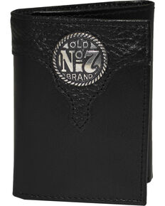 Jack Daniel's Men's Black Old #7 Trifold Wallet , Black, hi-res