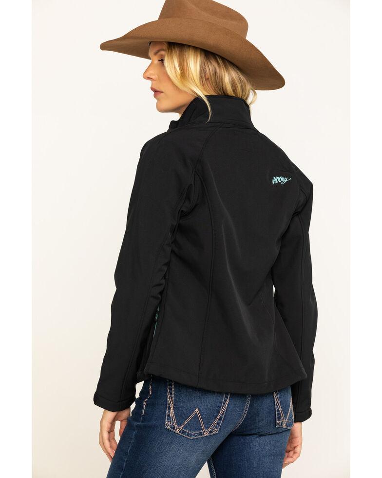 HOOey Women's Softshell Blue Trim Jacket, Black, hi-res