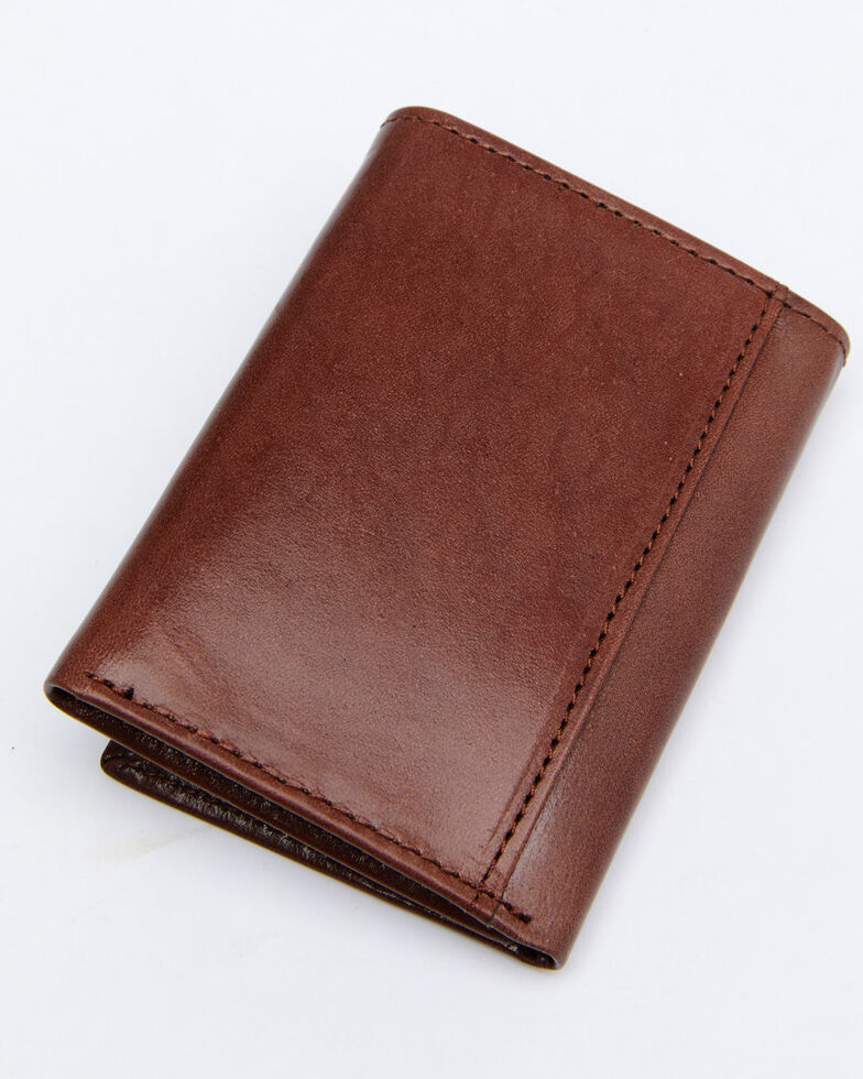 Cody James Men's Hair-On Trifold Wallet, Brown, hi-res