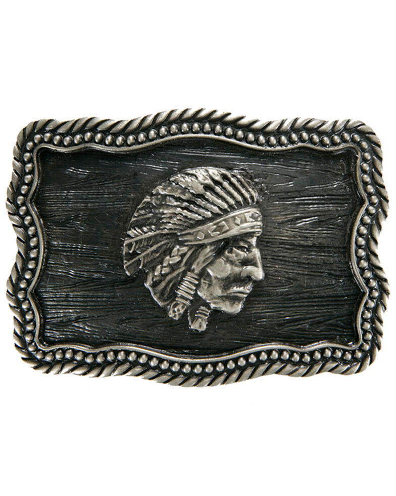 AndWest Indian Chief Iconic Buckle, Silver, hi-res
