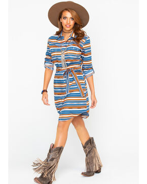 Panhandle Women's Chicon Aztec Print Dress, Multi, hi-res