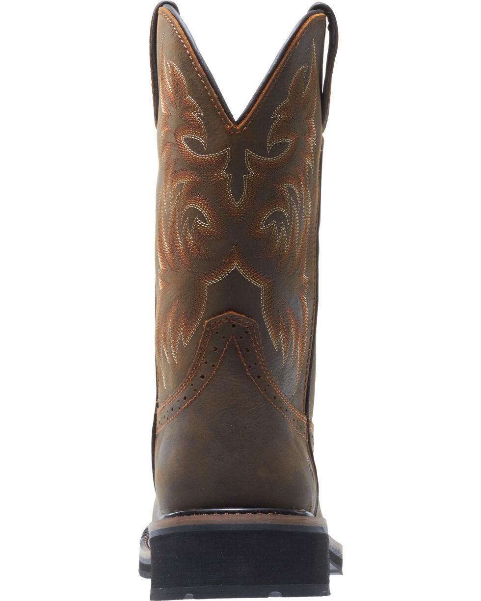 Wolverine Men's Rancher Wellington Work Boots, Dark Brown, hi-res