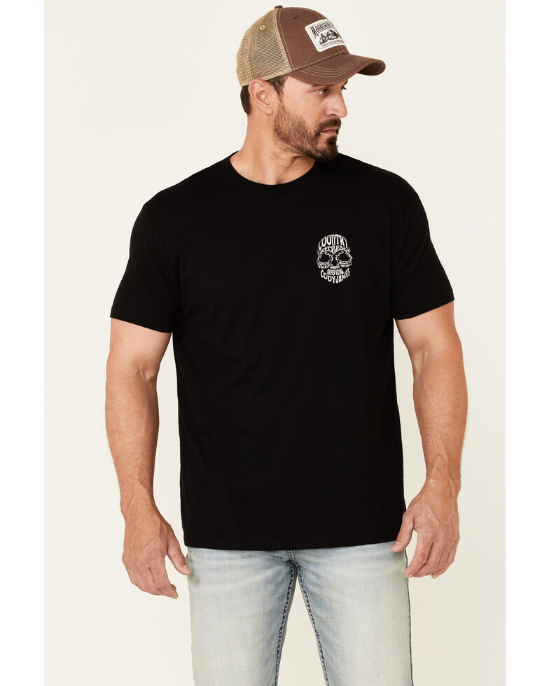 Cody James Men's Country & Reckless Skull Graphic Short Sleeve T-Shirt , Black, hi-res