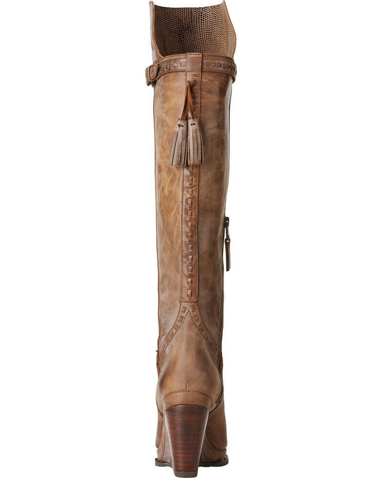 b240d65401c2 Ariat Women's Knoxville Tan Tall Wedge Boots - Round Toe