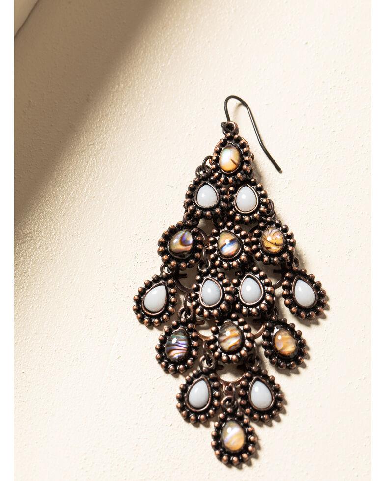 Shyanne Women's Willow Moon Diamond Chandelier Earrings, Rust Copper, hi-res