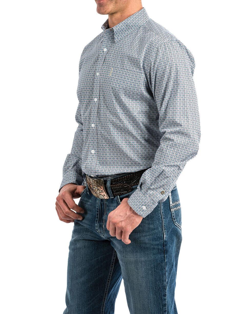 Cinch Men's Multi Modern Geo Print Long Sleeve Western Shirt , Multi, hi-res