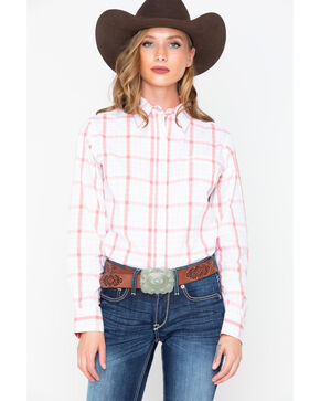 George Strait by Wrangler Women's For Her Long Sleeve Western Shirt, Multi, hi-res