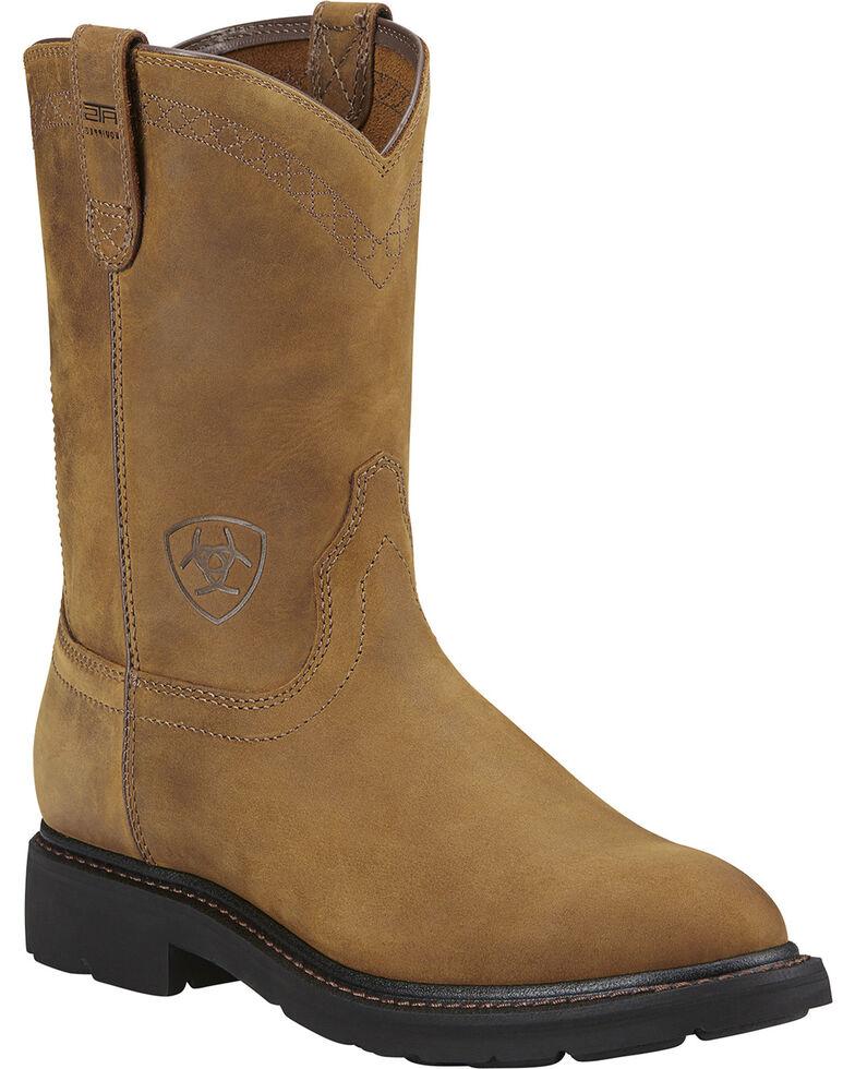 Ariat Men's Sierra Work Boots, Aged Bark, hi-res
