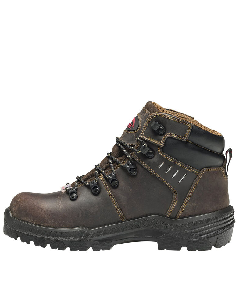 Avenger Men's Brown Foundation Work Boots - Composite Toe, Brown, hi-res