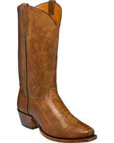 Tony Lama Men's Killeen Ostrich Exotic  Boots, Suntan, hi-res