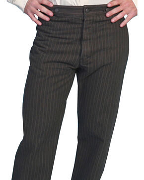 Wahmaker by Scully Cotton Saddle Cut Stripe Pants - Tall, Charcoal Grey, hi-res