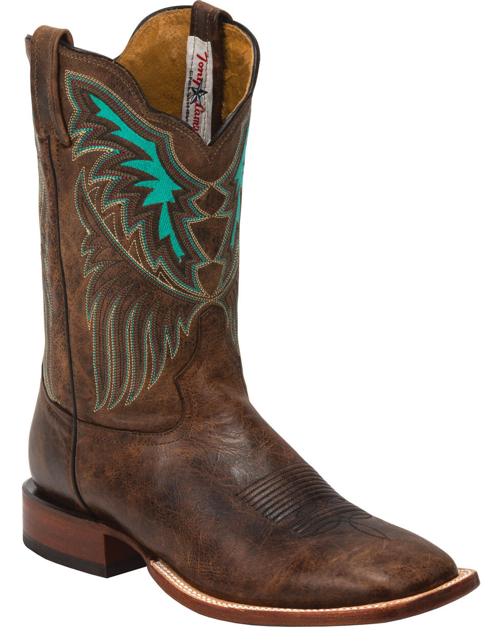 Tony Lama Men's San Saba Iron Shiloh Western Boots, Brown, hi-res