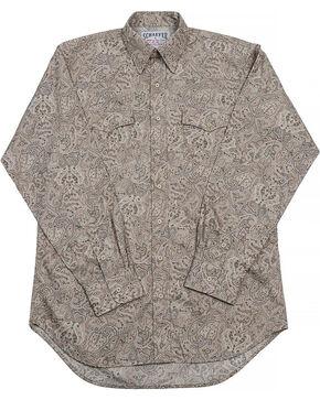 Schaefer Outfitter Men's Frontier Paisley Western Button Shirt, Beige/khaki, hi-res