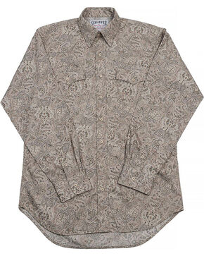 Schaefer Outfitter Men's Frontier Paisley Western Button Shirt - Big, Beige/khaki, hi-res