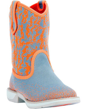 Laredo Kids' Comet Performair Western Boots, Orange, hi-res