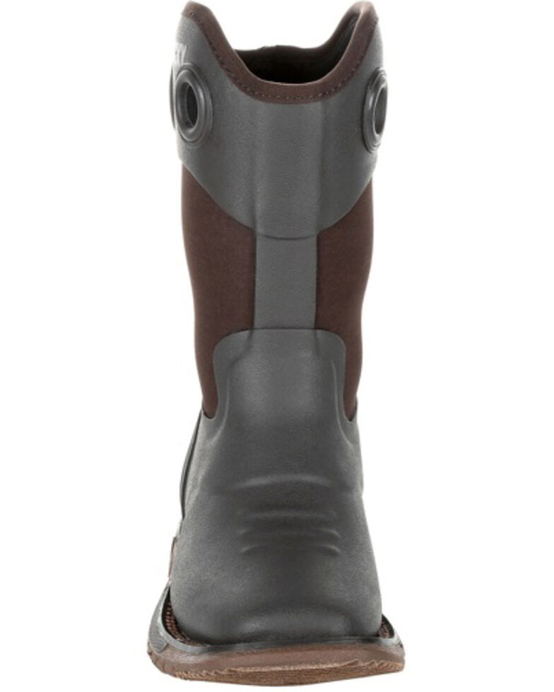 Rocky Youth Boys' Big Kids Rubber Western Boots - Square Toe, Chocolate, hi-res
