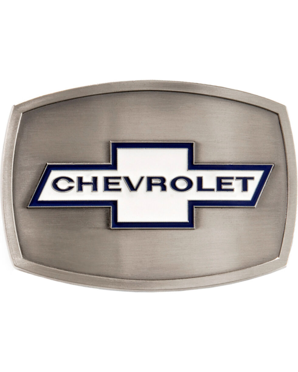 Chevrolet Belt Buckle, Silver, hi-res