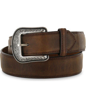 3D Belt Co  Men's Genuine Leather Belt, Brown, hi-res