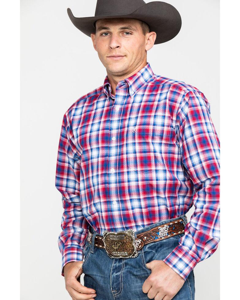 Ariat Men's Oakden Large Plaid Long Sleeve Western Shirt , , hi-res