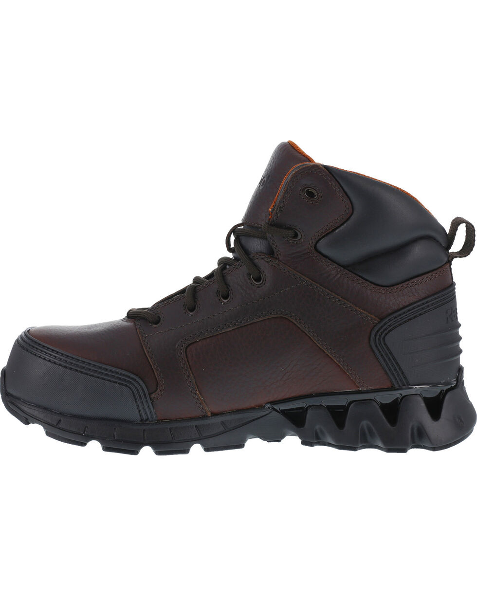 "Reebok Men's Athletic 6"" Boots - Composite Toe, Brown, hi-res"