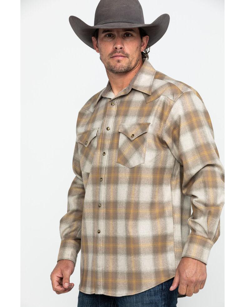 Pendleton Men's Tan Canyon Ombre Plaid Long Sleeve Flannel Shirt , Tan, hi-res