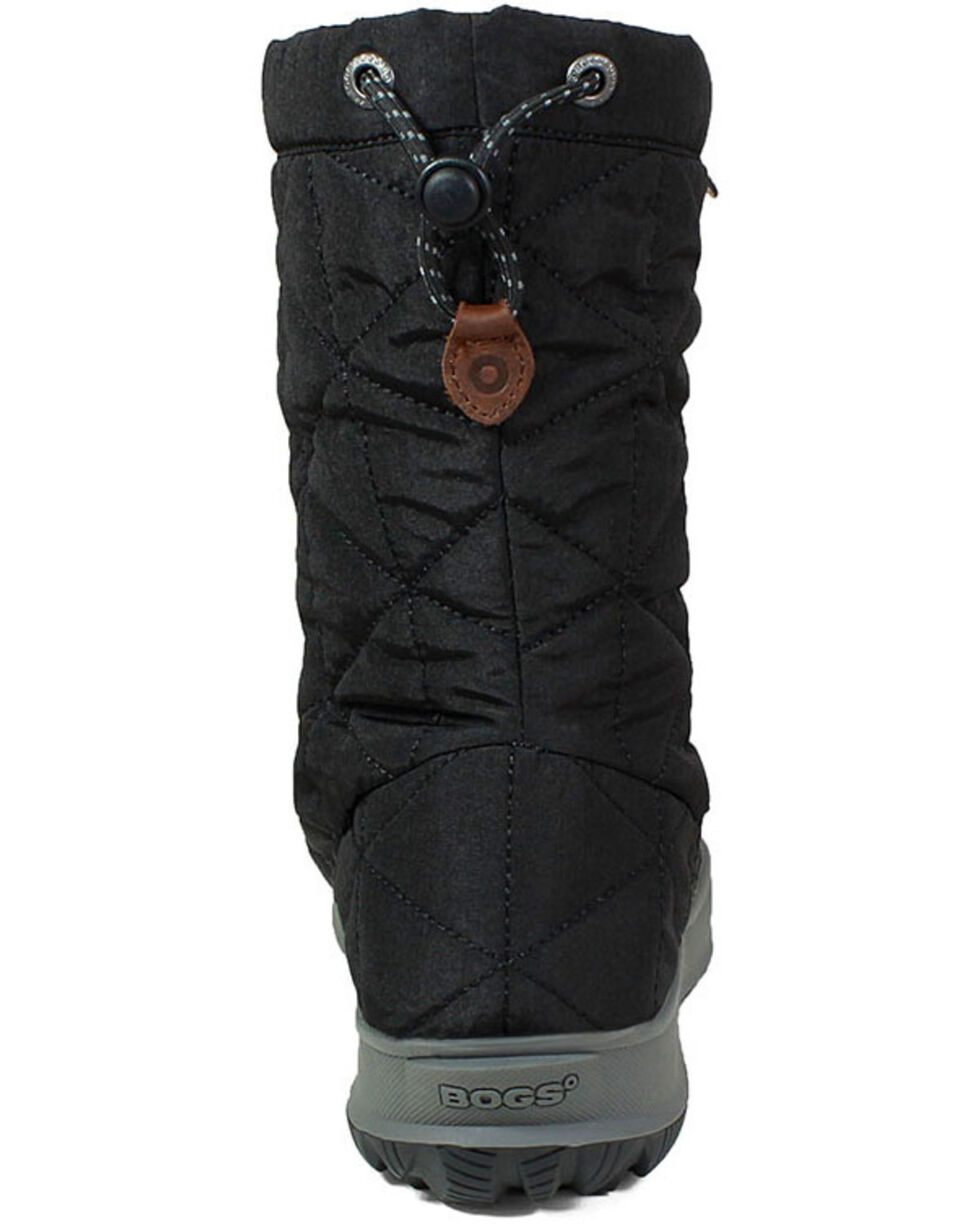 Bogs Women's Black Snowday Waterproof Winter Boots - Round Toe, Black, hi-res