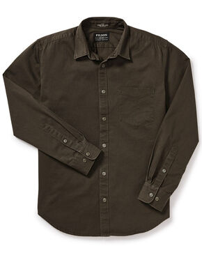Filson Men's Wetland Brown 6.5 oz Chino Shirt, Multi, hi-res