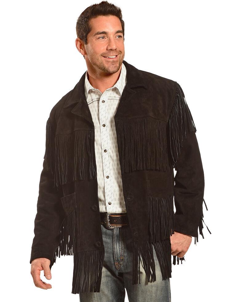 0886800ad Liberty Wear Men's Suede Fringe Western Jacket