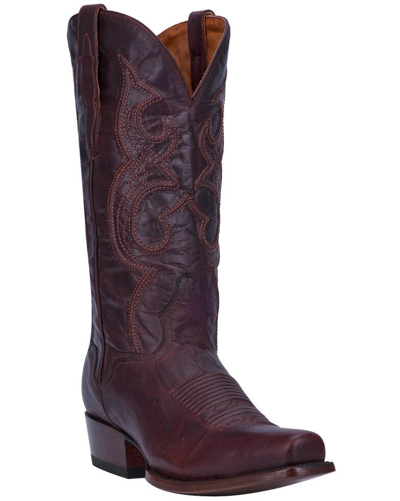 El Dorado Men's Handmade Chocolate Goatskin Cowboy Boots - Snip Toe, Chocolate, hi-res