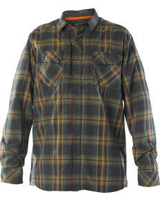 5.11 Tactical Men's Flannel Shirt, Green, hi-res