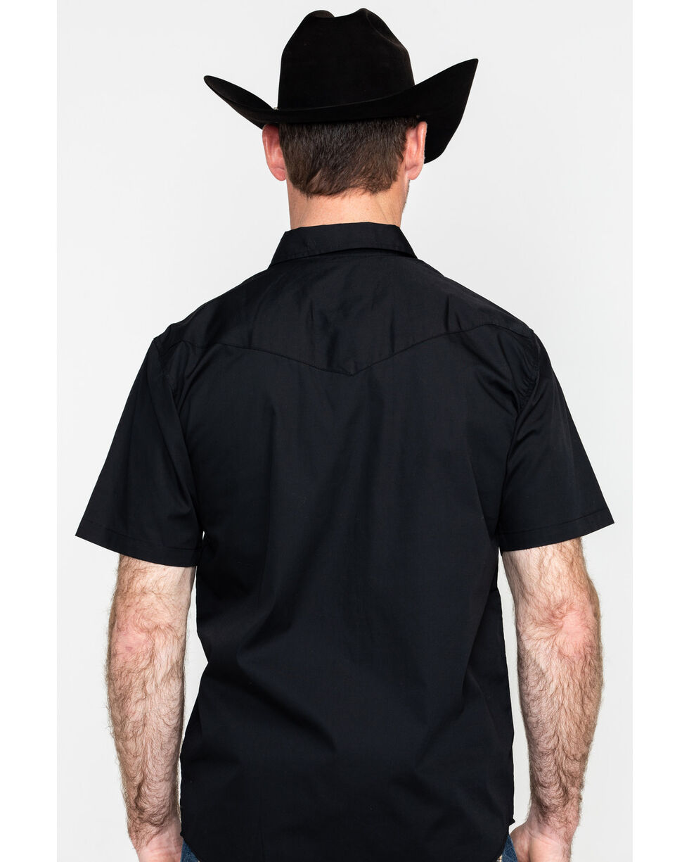 Gibson Men's Solid Short Sleeve Shirt - Big, Black, hi-res