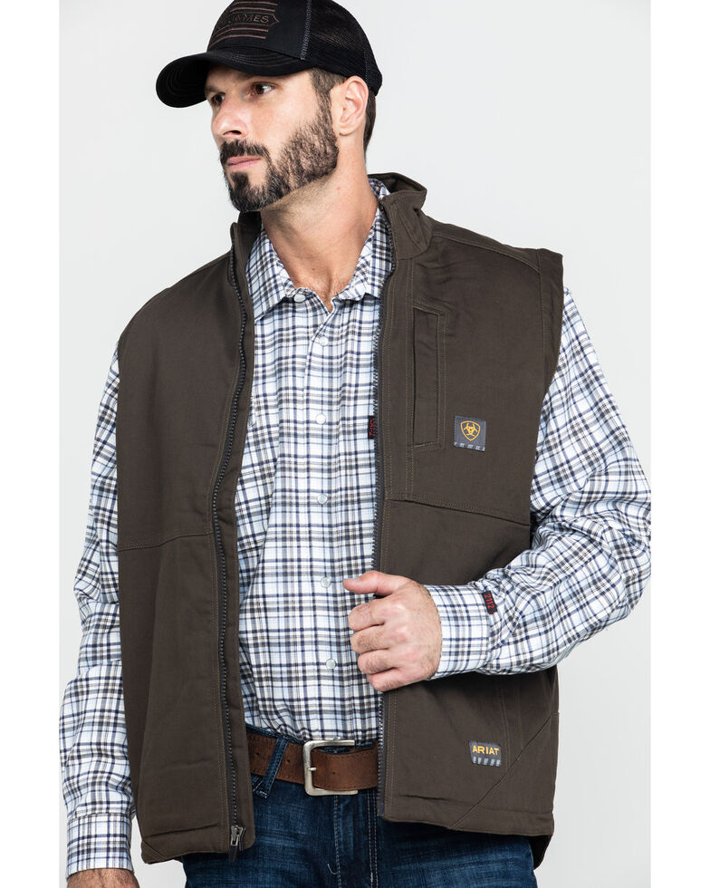 Ariat Men's Wren Rebar Duracanvas Work Vest , Loden, hi-res