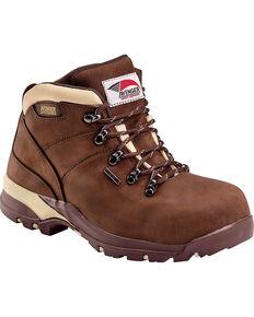 Avenger Women's Waterproof Hiking Boots - Composite Toe, Chocolate, hi-res