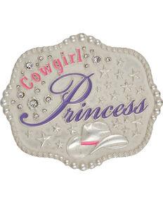 Montana Silversmiths Kid's Cowgirl Princess Belt Buckle, Silver, hi-res