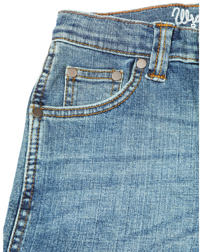 Wrangler Boys' Relaxed Stitched Bootcut Jeans  , Medium Blue, hi-res