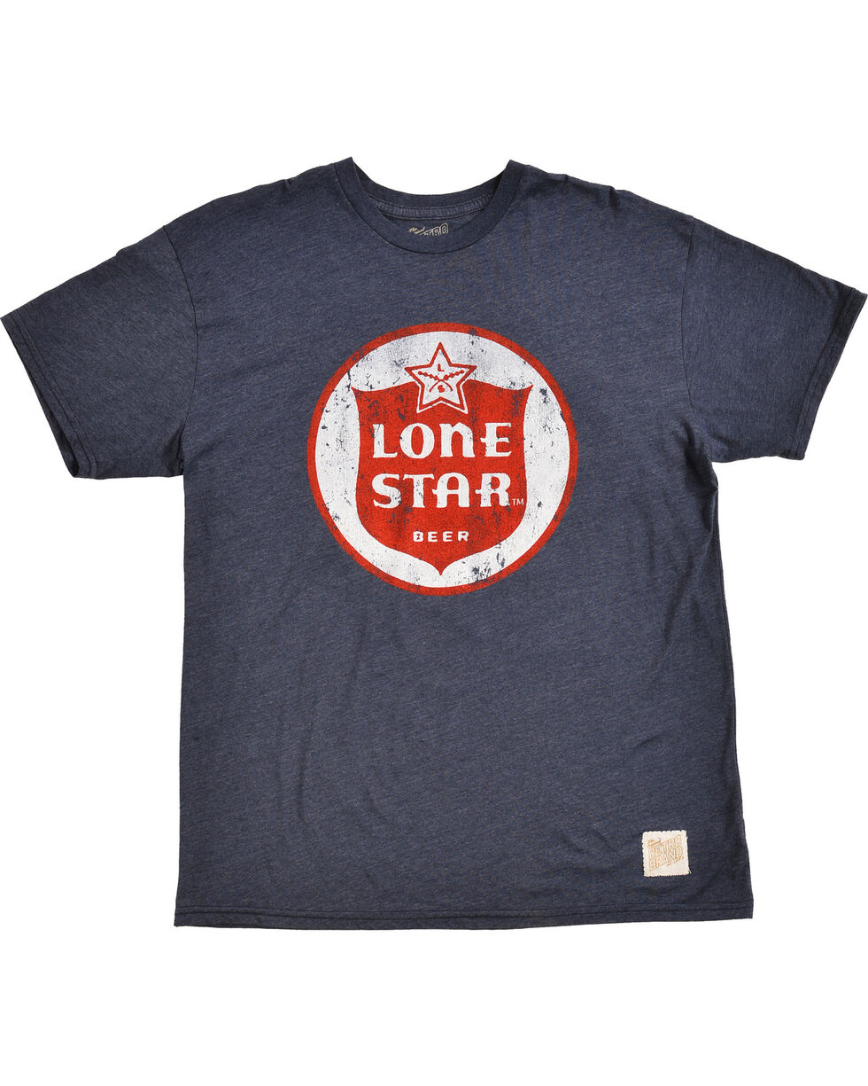 Original Retro Brand Men's Lone Star Circle Tee, Navy, hi-res