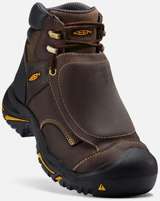 Keen Men's Mt. Vernon Met Guard Work Boots - Steel Toe, Brown, hi-res
