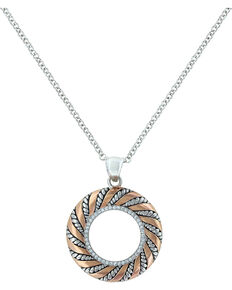 Montana Silversmiths Women's Twisted Wreath of Burnished Ribbon Necklace , Pink, hi-res