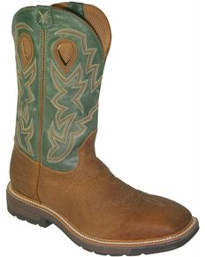 Twisted X Men's Lite Western Work Boots, Tan, hi-res