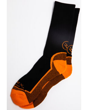 Hawx® Men's 3 Pack Socks, Black, hi-res