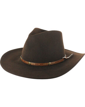 Cody James® Men's Felt Hat, Brown, hi-res