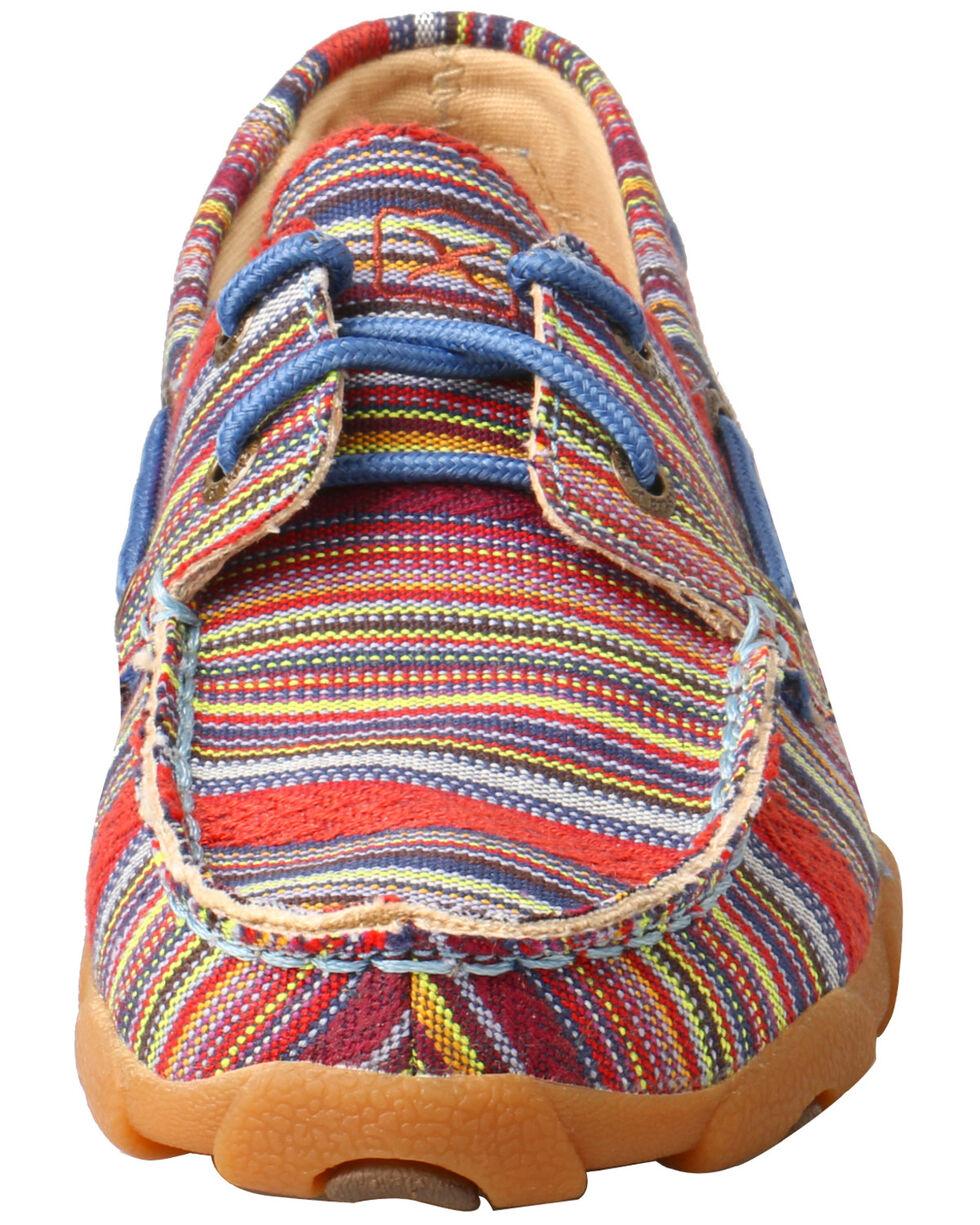 Twisted X Kids' Moccasin Boat Shoes - Moc Toe, Multi, hi-res