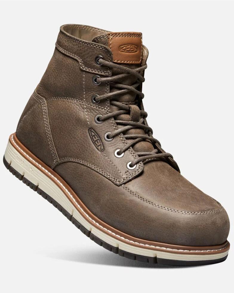 Keen Men's Black San Jose Work Boots - Aluminum Toe, Black/brown, hi-res