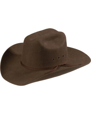 M&F Western Kids' Wool Felt Cattleman Cowboy Hat, Brown, hi-res