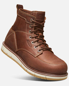Keen Men's Brown San Jose Work Boots - Aluminum Toe, Lt Brown, hi-res