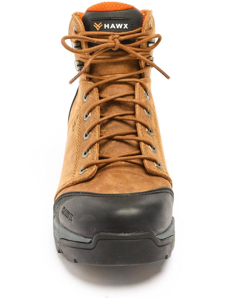 Hawx® Men's Lace To Toe Hiker Boots - Composite Toe, Brown, hi-res