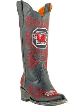 Gameday University of South Carolina Cowgirl Boots - Pointed Toe, Black, hi-res